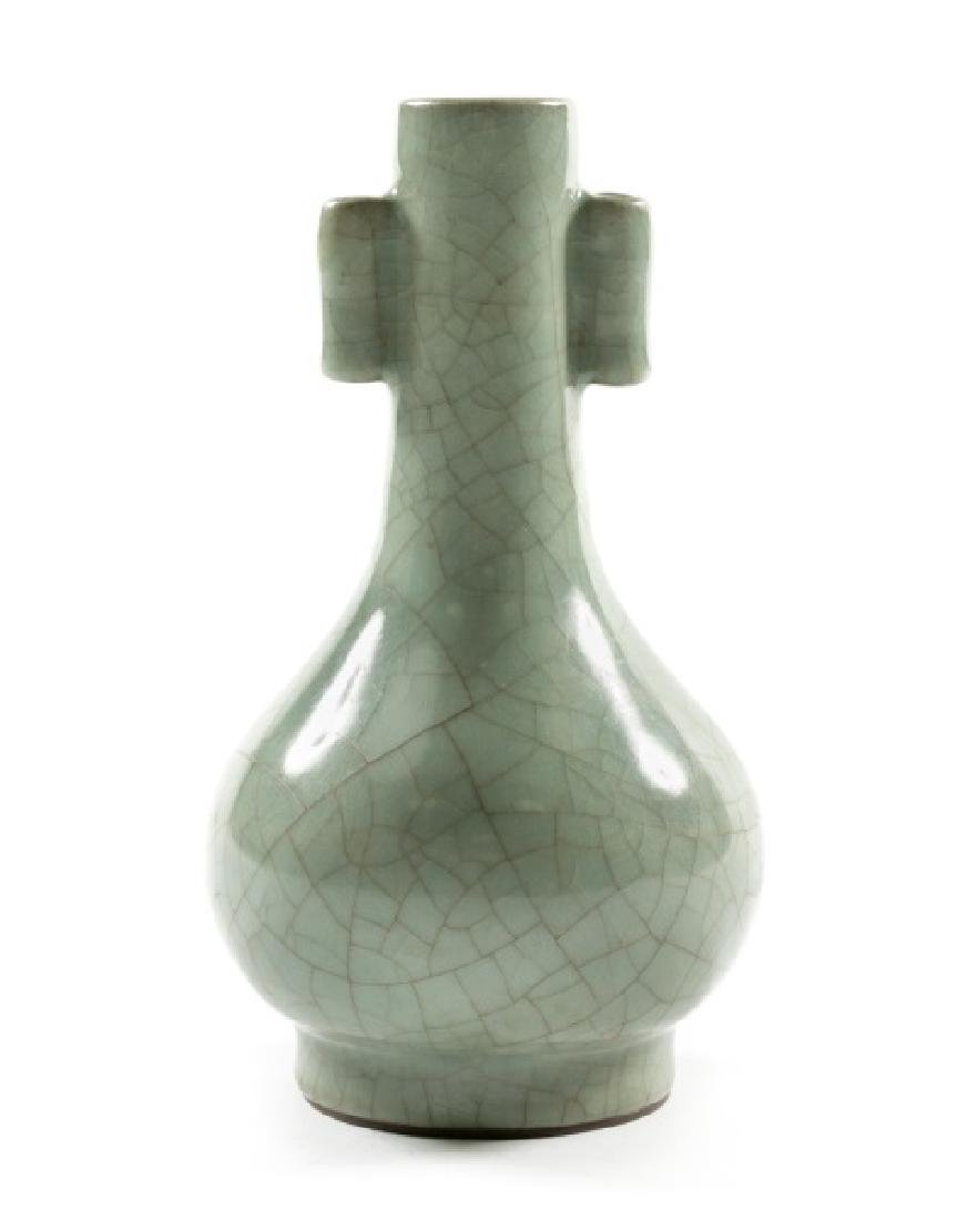 Chinese Song Dynasty Celadon Guan Ware Vase