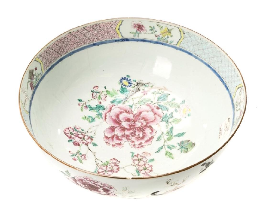 Chinese Floral Motif Punch Bowl, 19th/20th C. - 2