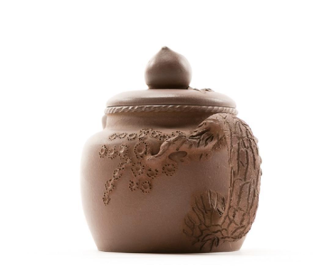 Chinese Yixing Zisha Teapot, Marked - 2
