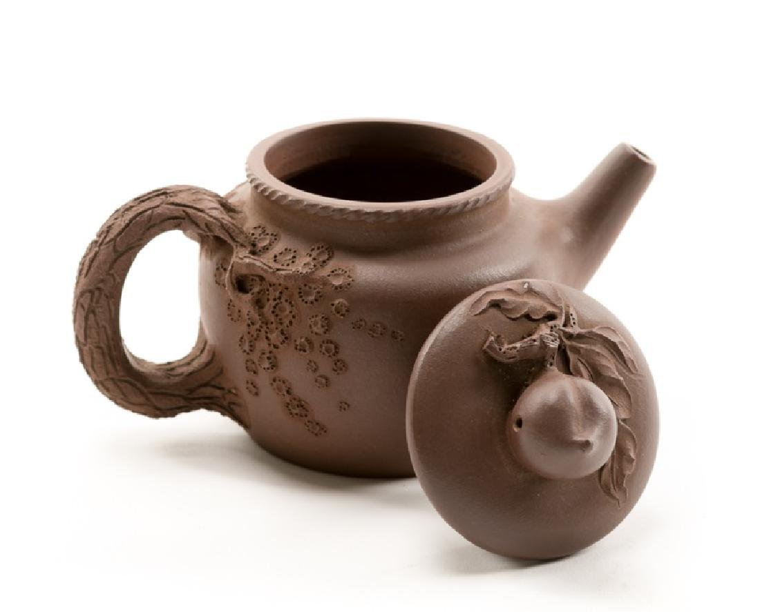 Chinese Yixing Zisha Teapot, Marked - 3