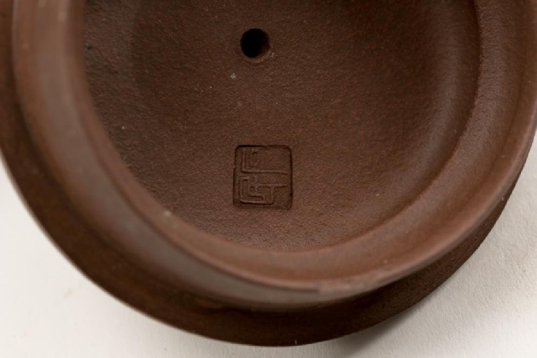 Chinese Yixing Zisha Teapot, Marked - 4