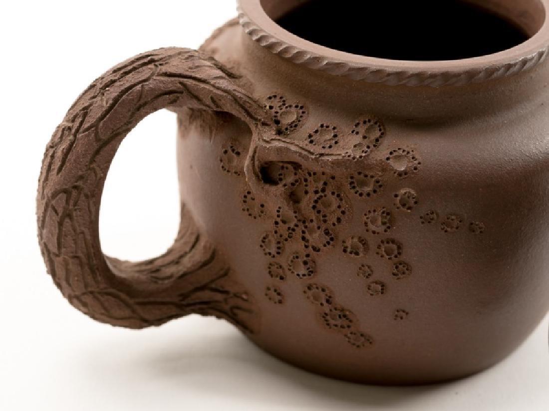 Chinese Yixing Zisha Teapot, Marked - 5