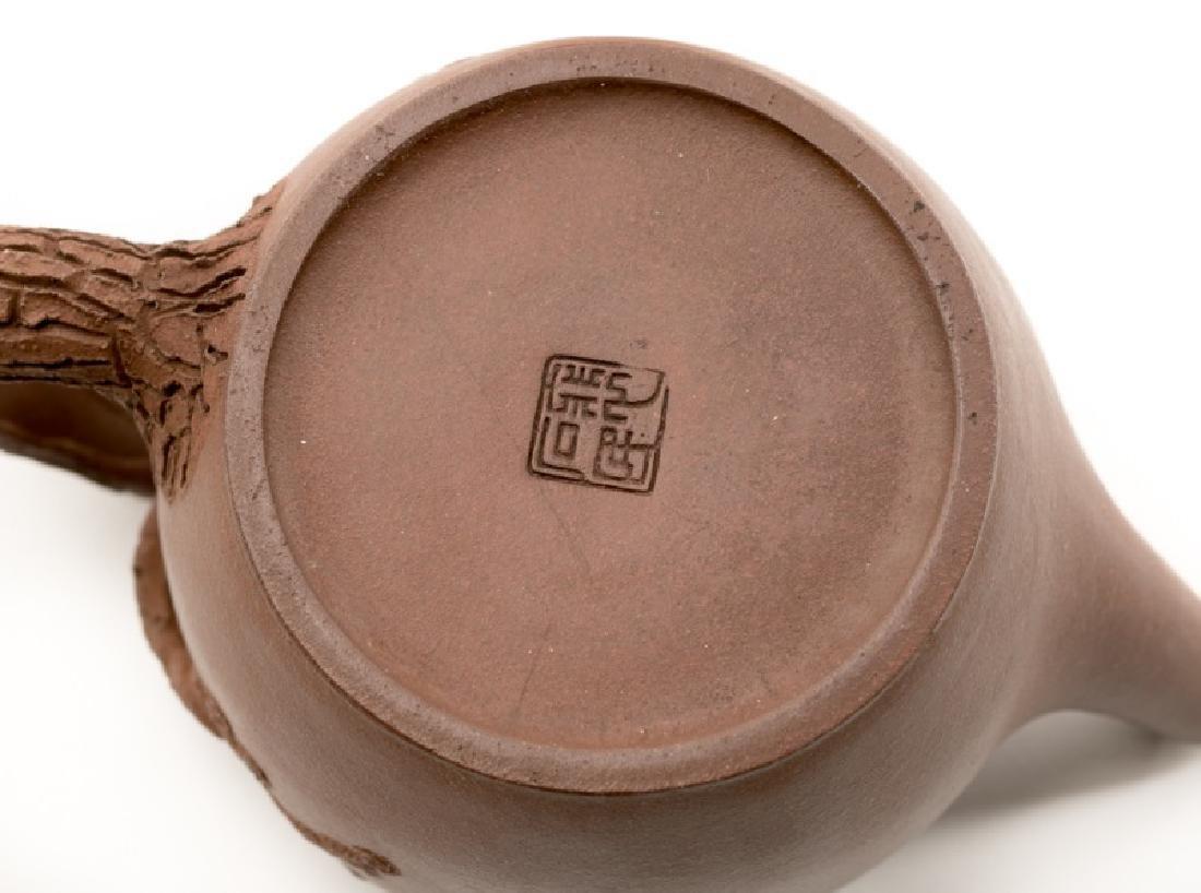 Chinese Yixing Zisha Teapot, Marked - 6