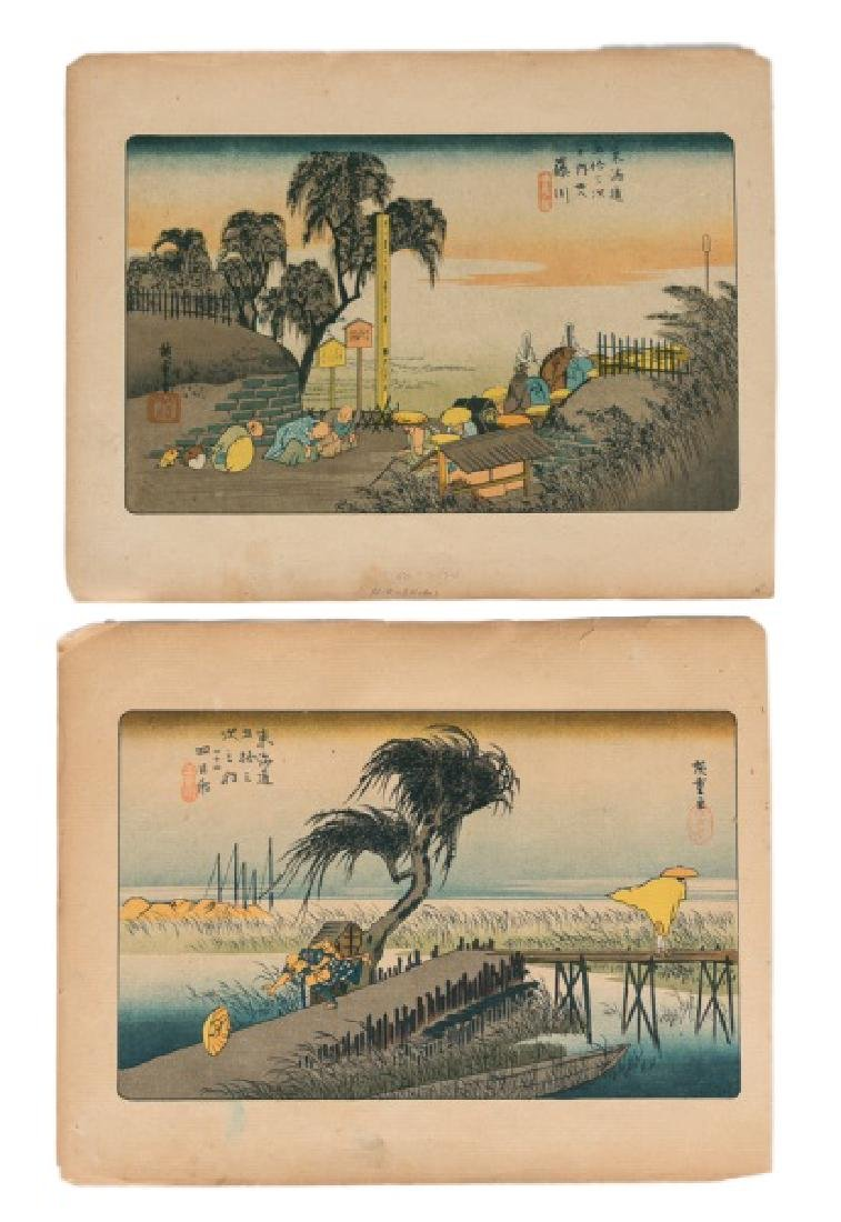 2 Japanese Woodblock Prints Attr. Hiroshige