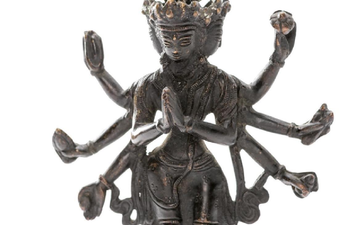 Himalayan Buddhist Bronze of Avalokiteshvara - 4