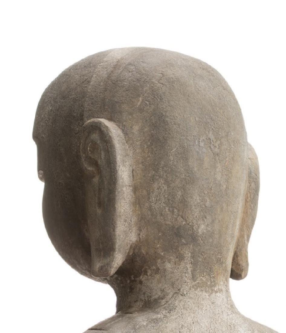 Pair, Chinese Stone Garden Lohan Figures - 4