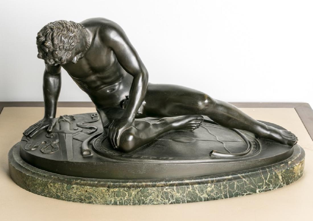 P. Chipparelli, Nude Male Figural Bronze 19th C