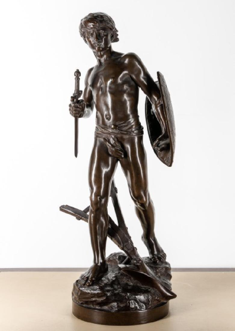 Mathurin Moreau, Bronze Warrior with Armor, 19th C