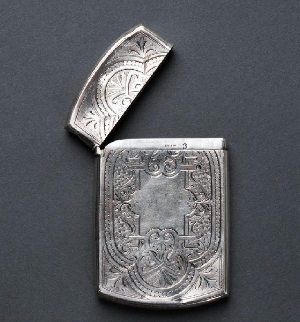 American Coin Silver Engraved Calling Card Case