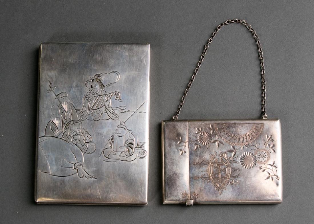 Japanese Sterling Case & Whiting Card Case