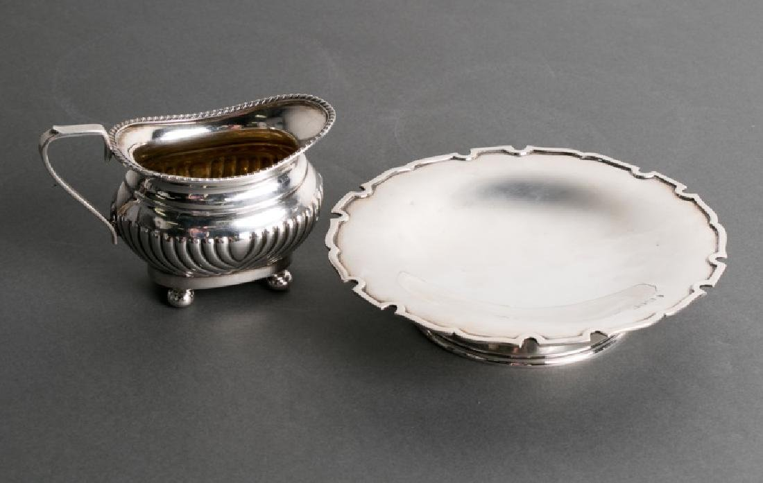 2 English Sterling Items, Cream Jug & Stand