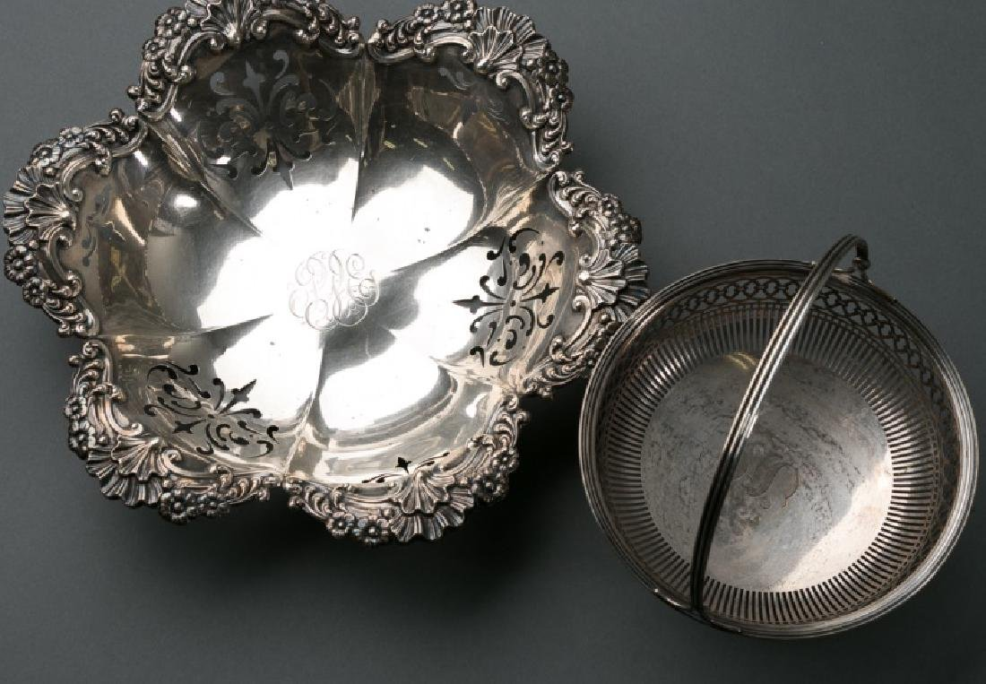 Group 2 Sterling Pieces, Bowl & Basket