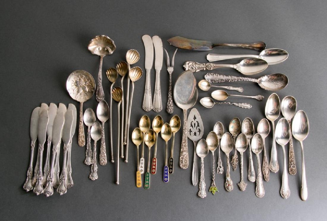 Group 49 Sterling Flatware Pieces
