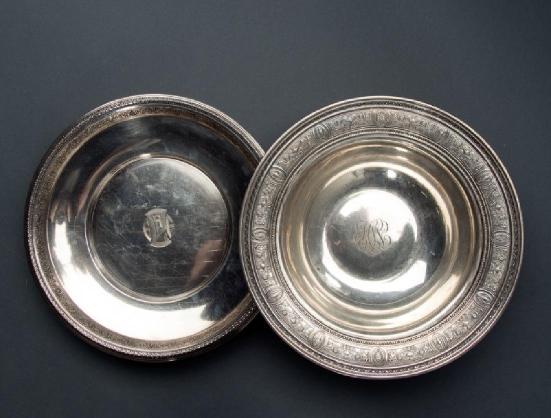 Group 2 Sterling Pieces Serving Bowls