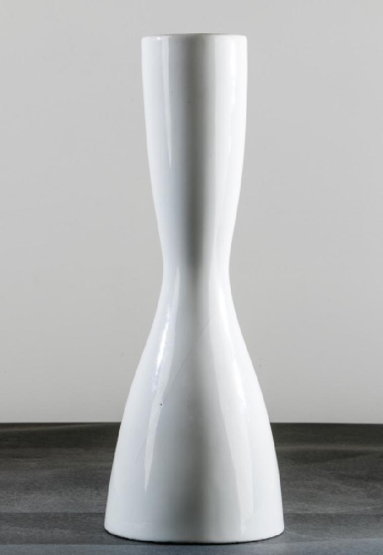 La Gardo Tackett for Freeman, White Ceramic Vase