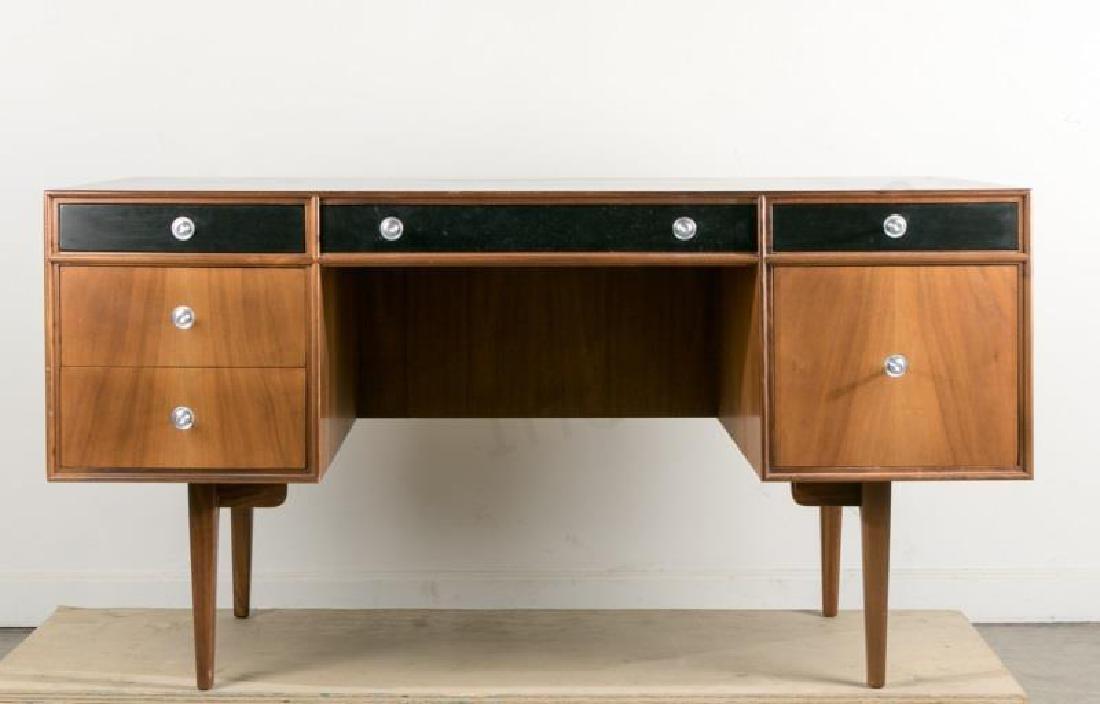 Paul McCobb Style Mid-Century Walnut Desk