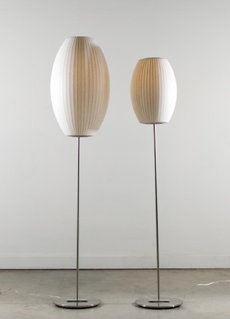 """Two George Nelson """"Lotus Bubble"""" Floor Lamps"""