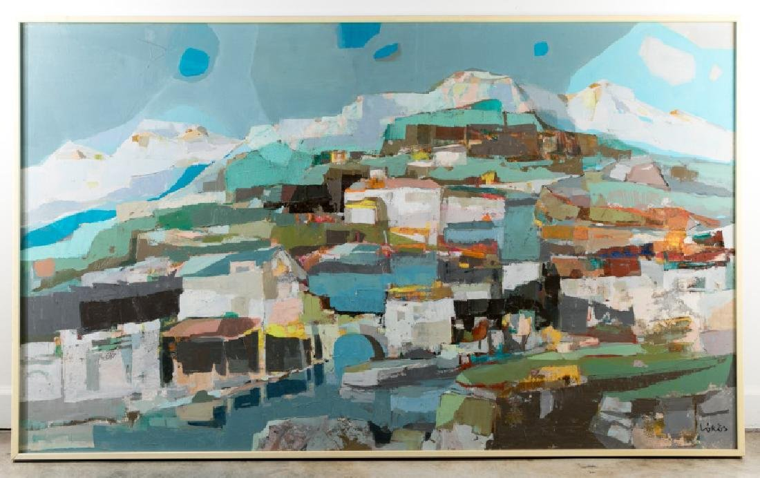 """Stefan Lokos, """"Rio Feliz"""" Mountain Landscape O/C"""