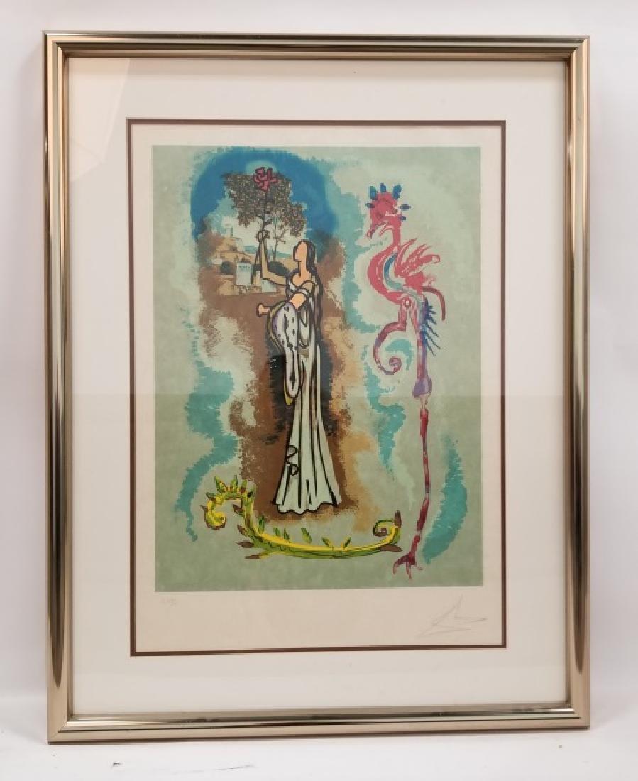 Salvador Dali, Rowena Lithograph 56/100, 1977