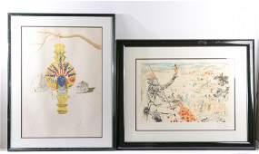 Two Framed Lithographs, After Salvador Dali