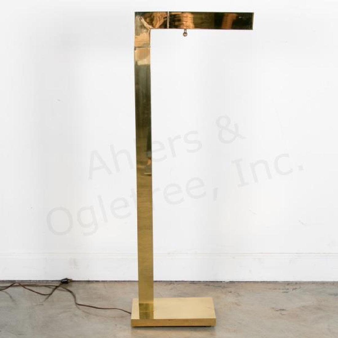 Modernist Brass Floor Lamp by Chapman, 1979