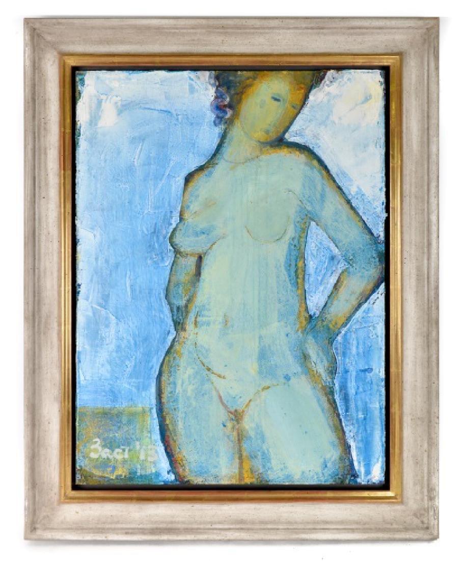 Natalya Zastavna, Abstract Female Nude in Blues