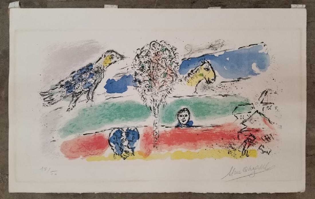 "Marc Chagall Signed ""Le Fleuve Vert"" Lithograph"