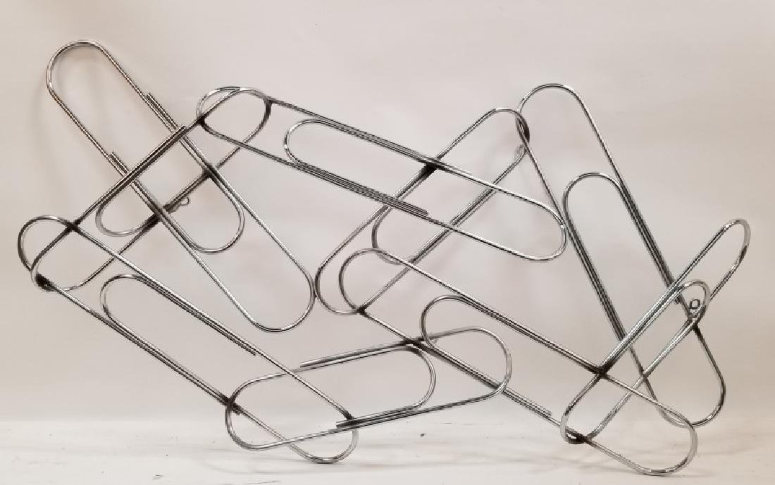 Curtis Jere Chrome Paper Clip Wall Sculpture