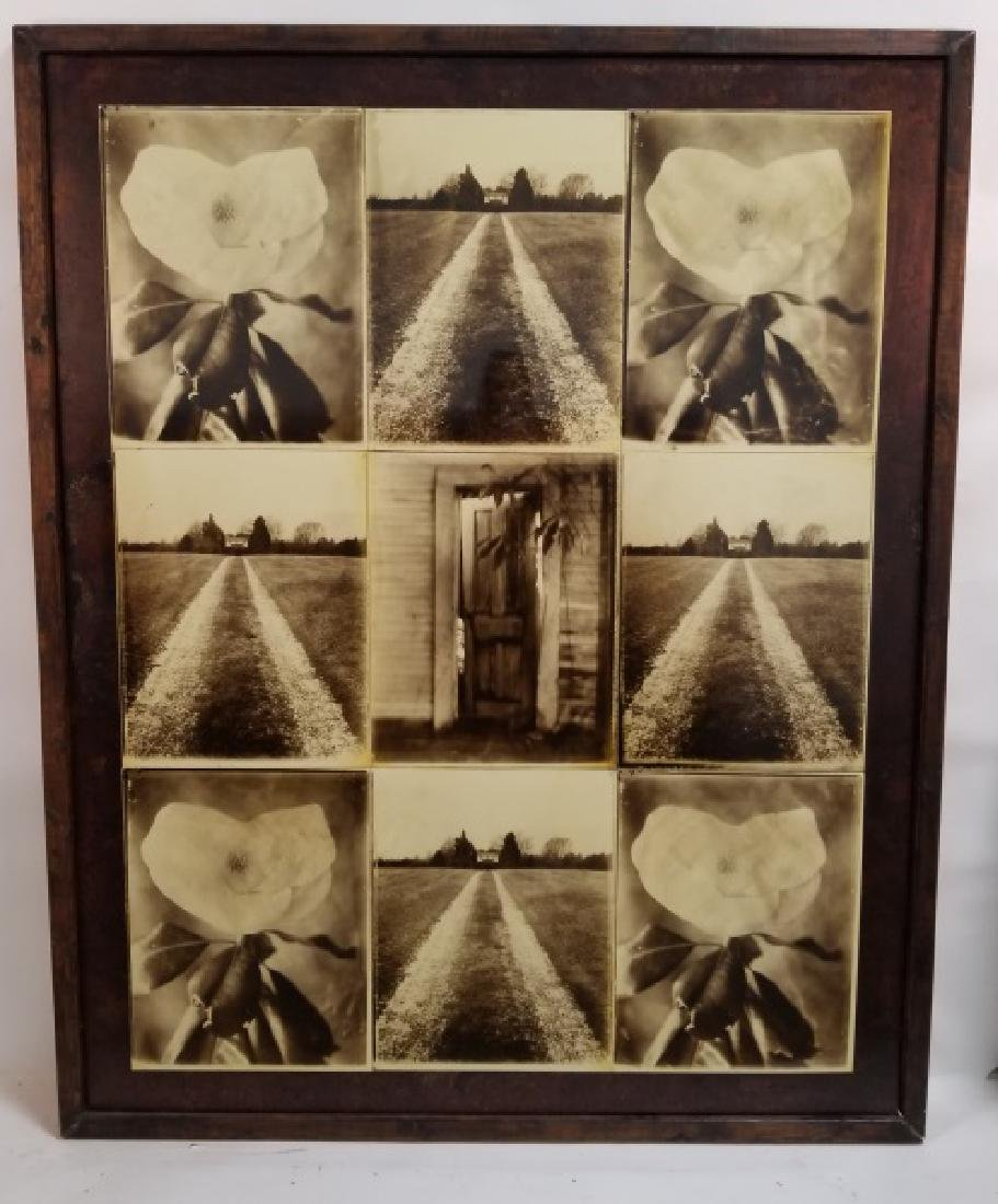 "David Knox, ""Home"" Sepia Photographs on Metal"