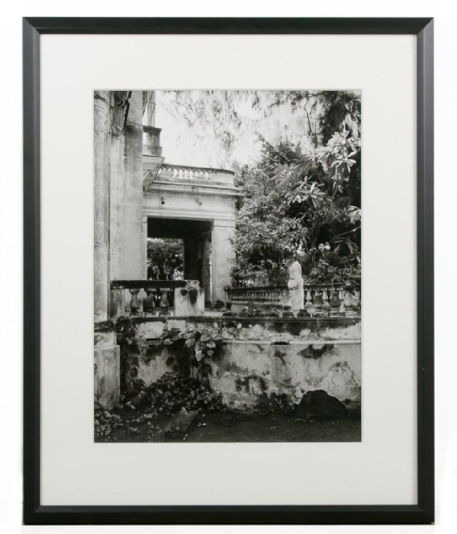 Framed B&W Photo of Dulce Maria Loynaz Home, 1999
