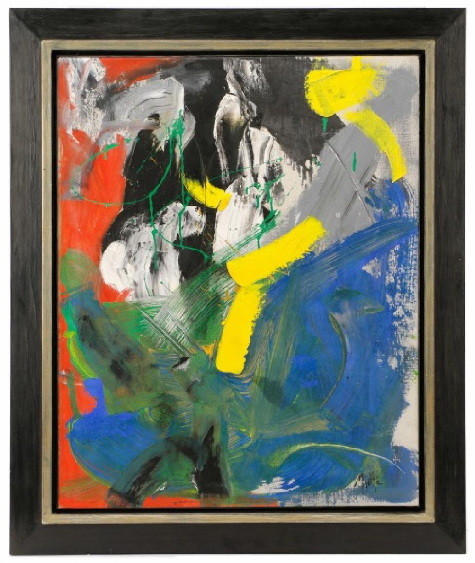 Jean Miotte, 1963 Abstract Oil & Acrylic on Canvas