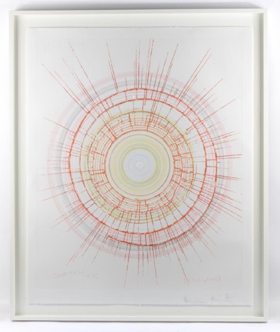 """Damien Hirst, Spin Art, """"In The Grove"""", Signed"""