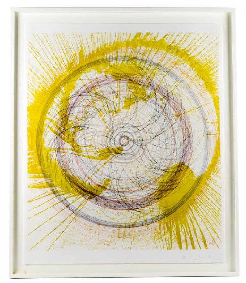 "Damien Hirst, Spin Art, ""Throw It Around"" Signed"