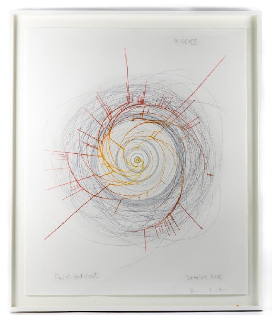 """Damien Hirst Spin Art, """"Twist and Shout"""", Signed"""