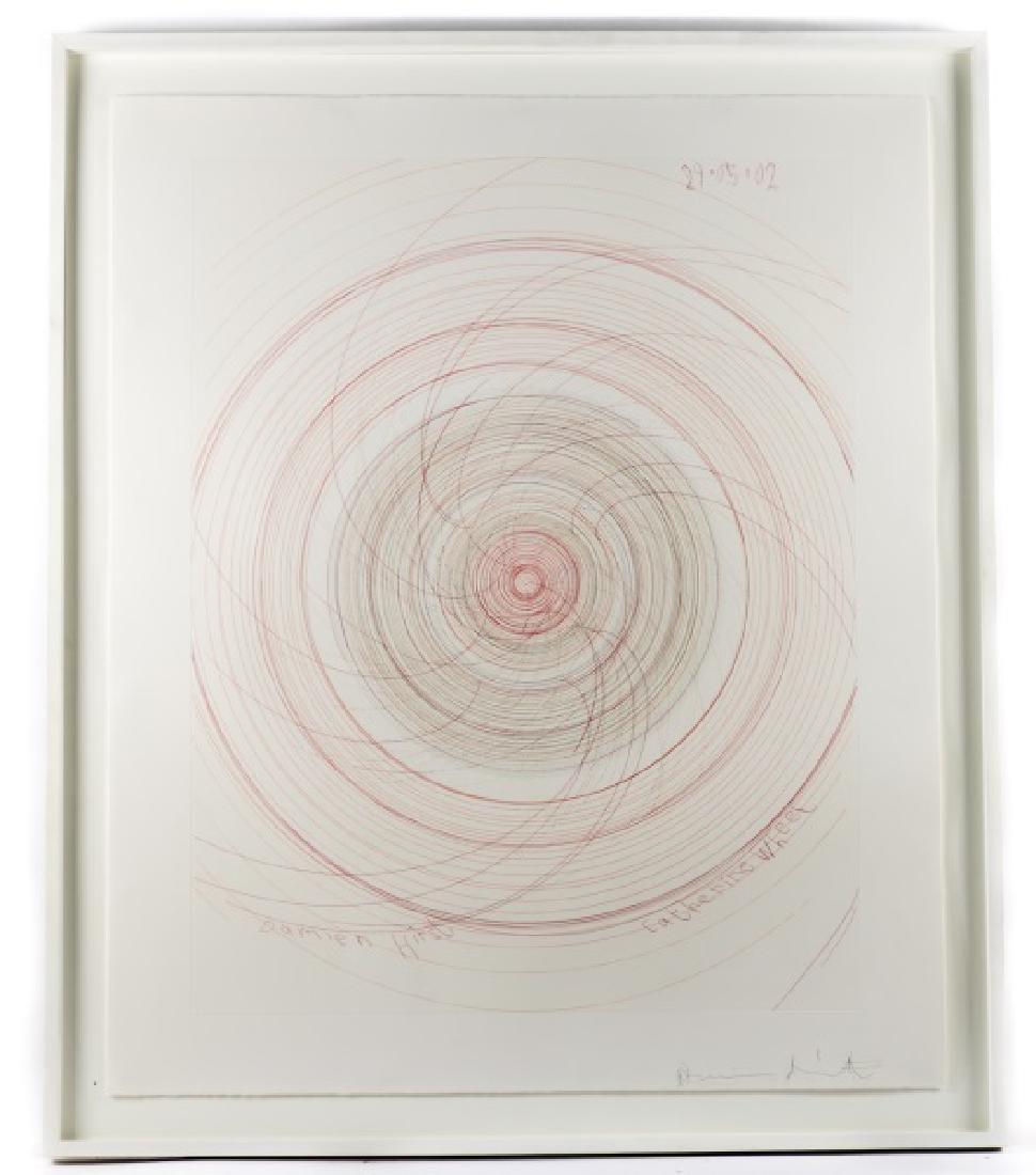 """Damien Hirst Framed Spin Art, """"Catherine"""" Signed"""