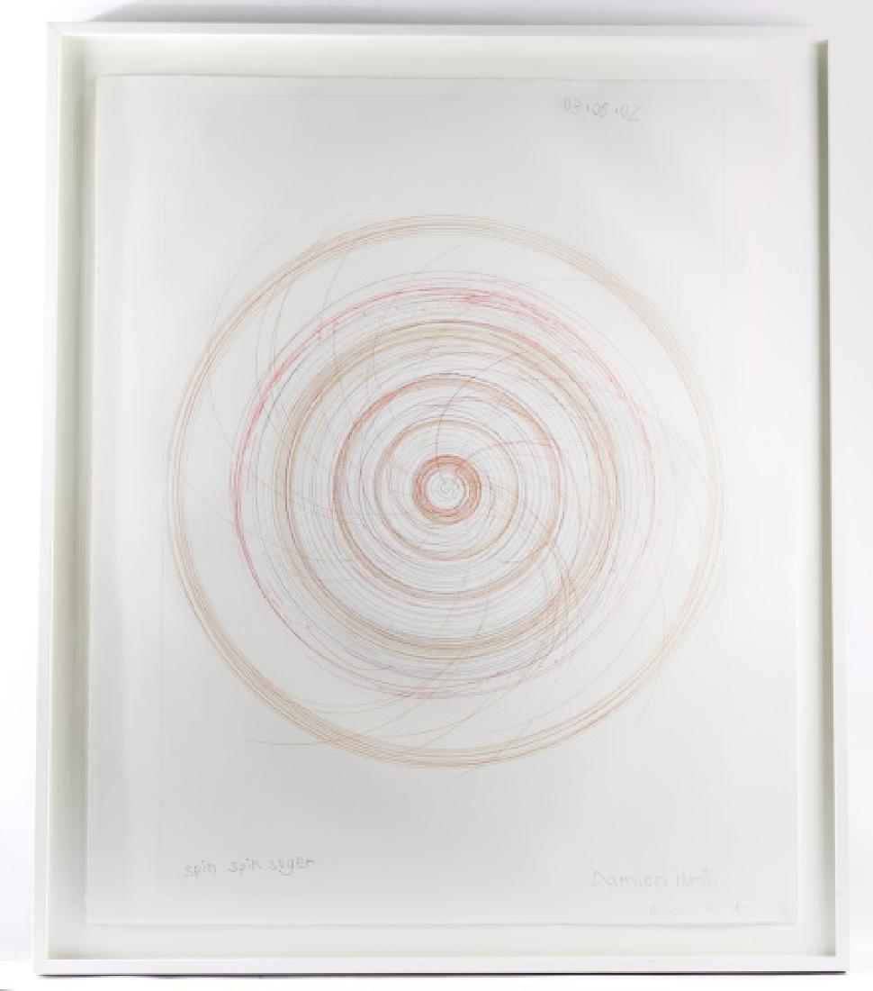 "Damien Hirst, Spin Art, ""Spin Spin Sugar"", Signed"