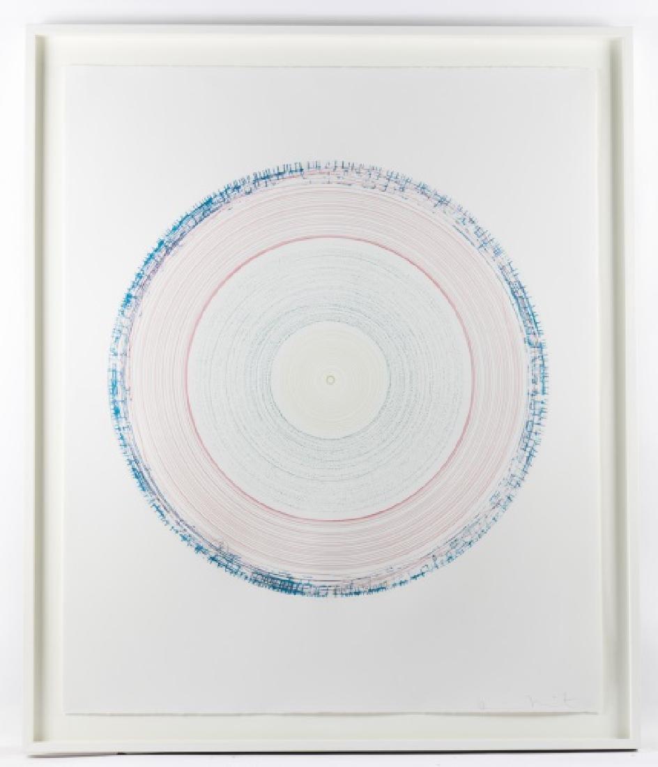 """Damien Hirst Framed Spin Art, """"Vortex"""" Signed"""
