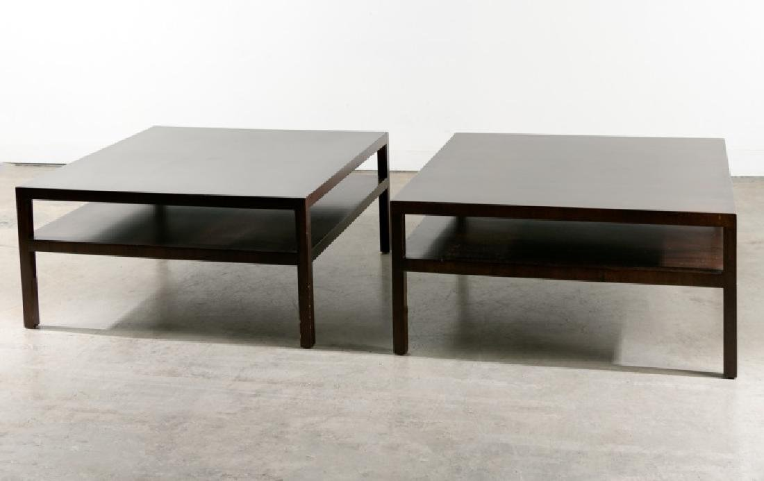 Pair, Large Walnut MCM Cocktail Tables, Widdicomb