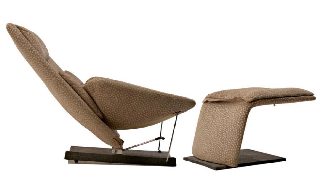 Saporiti Italia Lounge Chair & Ottoman, 1970s