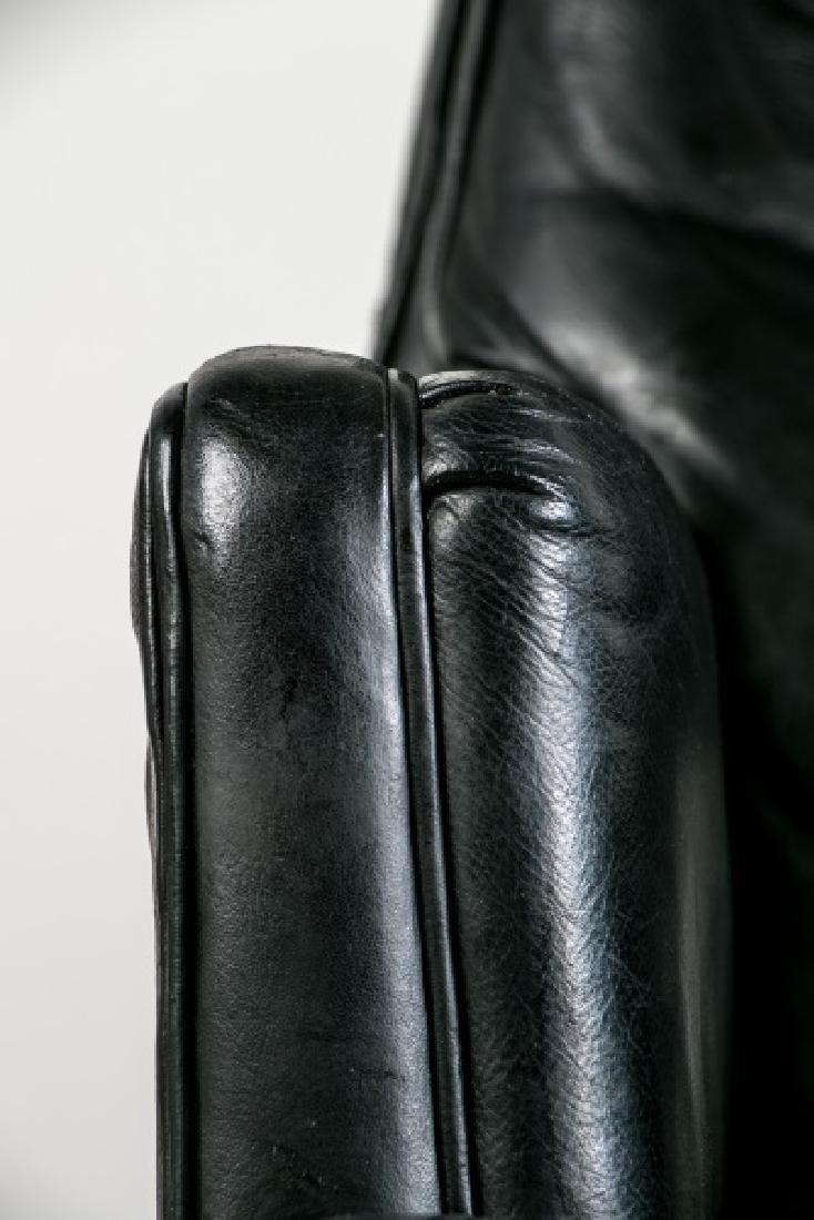 Edward Wormley for Dunbar Black Leather Desk Chair - 4