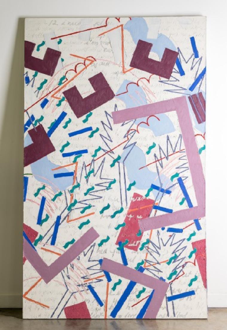 "Ellen Levin ""White Painting Series"" Oil, Signed"