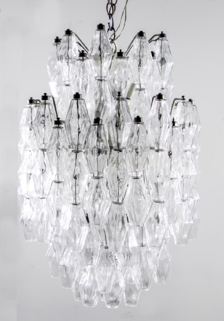 Venini Mid Century Art Glass Chandelier, C. Scarpa