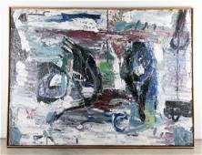 Philippe Vandenberg Signed Monumental Oil, 1987