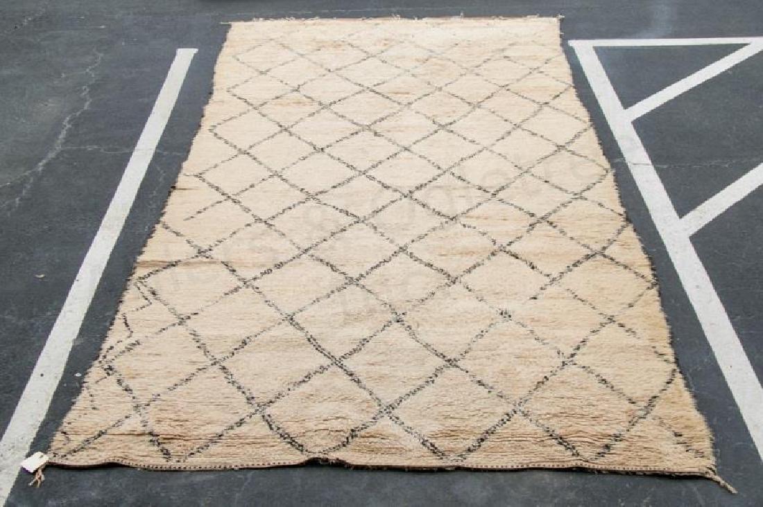 """Larusi Beni Ourain Moroccan Wool Rug, 82"""" x 164"""""""