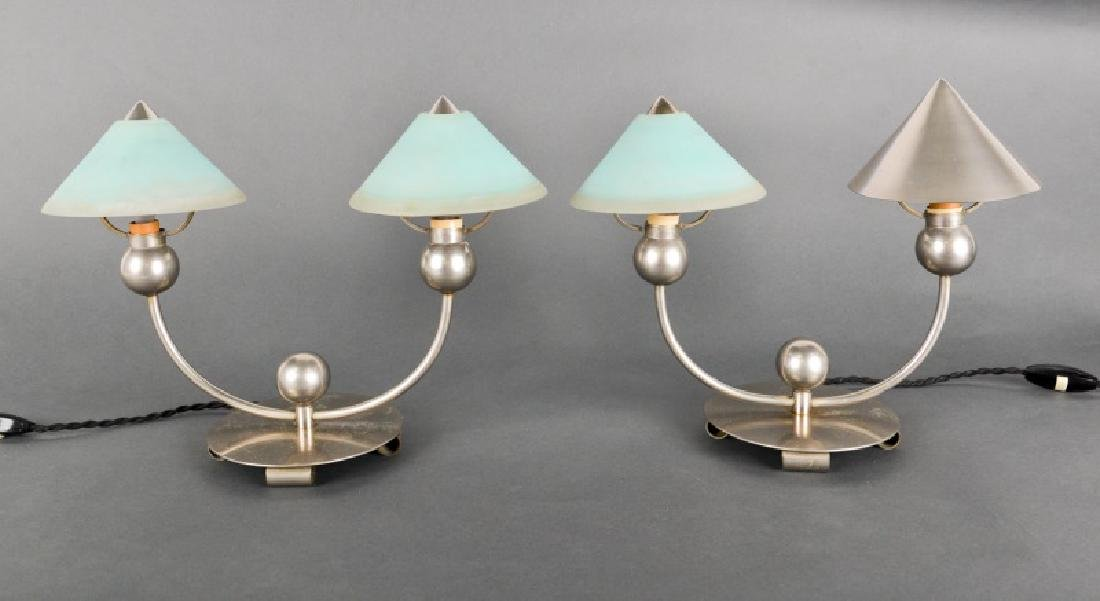 Pair, Marc Errol for La Cremaillere 2-Light Lamps
