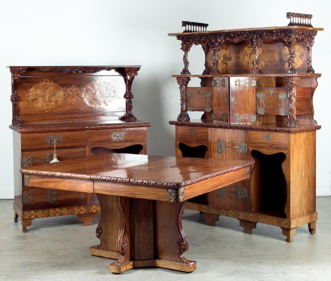 Cutler & Girard Italian Art Nouveau Dining Suite