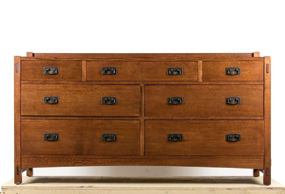 Stickley Arts & Crafts 7-Drawer Dresser, 20th C