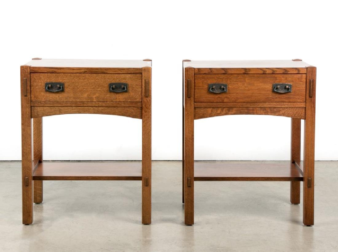 Pair of Stickley Mission Nightstands, 20th C