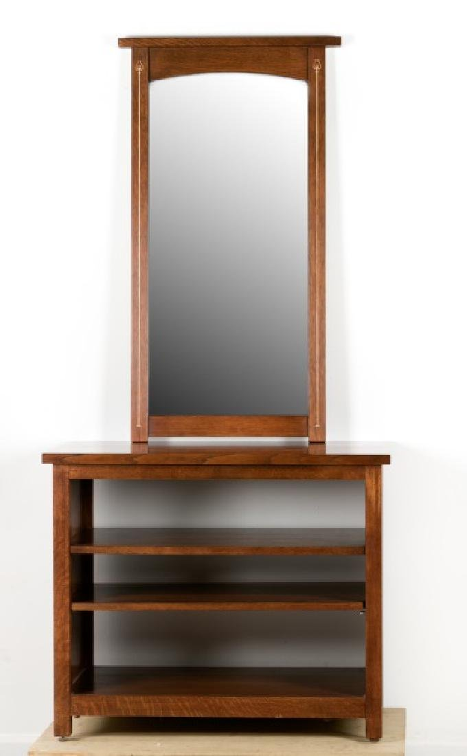 Group of 2, Stickley Mirror & Small Media Cabinet