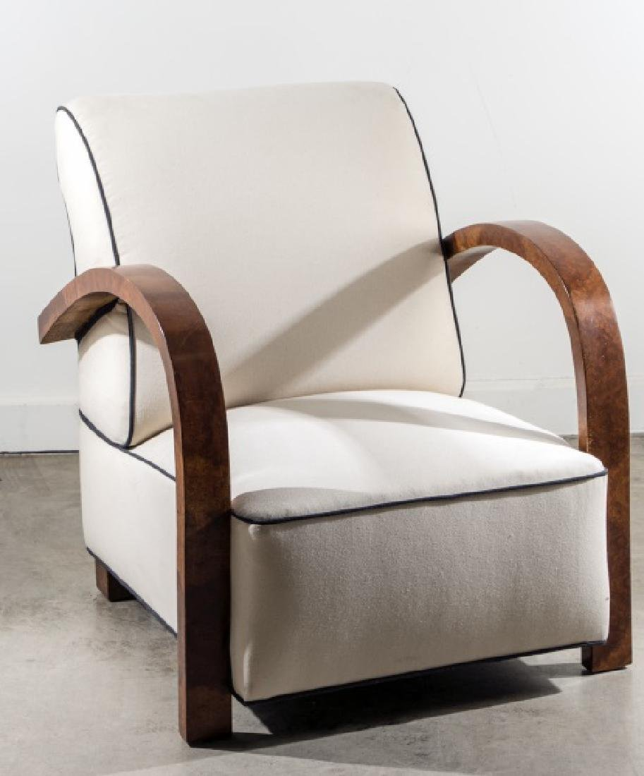 Art Deco Upholstered Lounge Chair